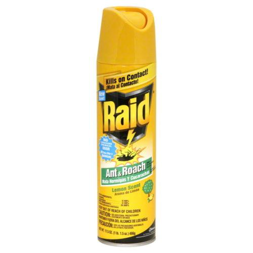 16479 LEM Raid Ant & Roach Killer Lemon Scent, 17 oz, Pack of 12