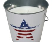 21092US 18 oz USA Flag Design Mosquito Repellent Bucket - pack of 6