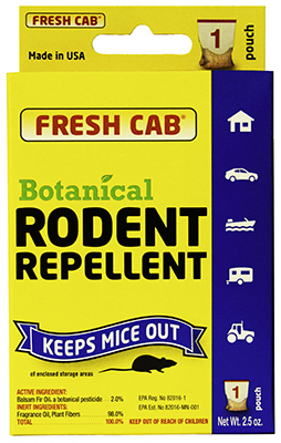 Earth Kind FCCS12 2.5 oz. Fresh Cab Botanical Rodent Repellent Mouse Pouch