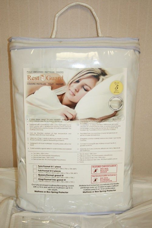 H14210 Rest-guard Bed Bug Mattress Cover - 10 in. Double