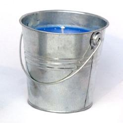 Mosquito Repelling Galvanized Bucket Candle