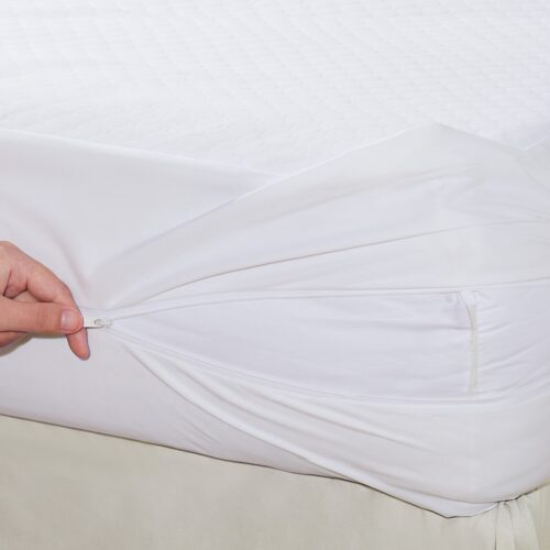 ALL171XXWHIT04 Comfort Top Mattress Protector with Bed Bug Blocker, White - King Size